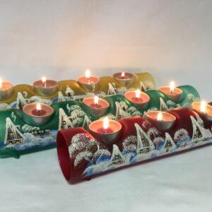 Malované vánoční válce