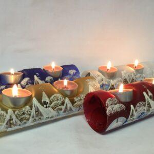 Vánoční válce na 2 svíčky
