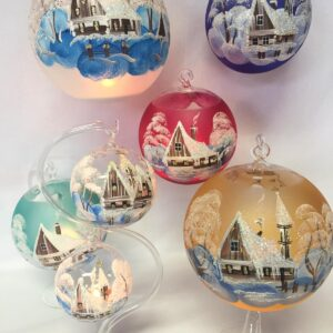 Malované vánoční koule