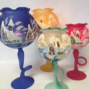 Malované vánoční poháry