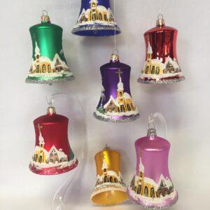 Malované vánoční zvonky 9cm